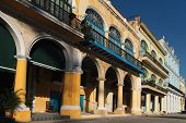 Arches Of Plaza Vieja In Havana, Cuba