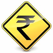 Vector Yellow Rupee Icon