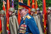 Odessa, Ukraine - May 9: Parade. Celebrating Victory Day In The Second World War 1941-1945. Veterans
