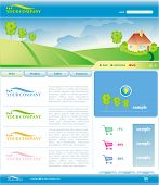 Vector Template of Website
