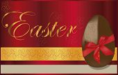 chocolat easter egg background  with gold motiv