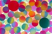 Colorful Abstract Of Bicolour Plastic Balls