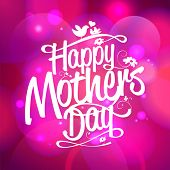 Happy Mothers's Day typographical bokeh background. Eps10