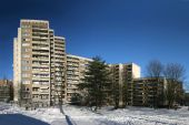 Big apartment houses, seen in Kassel