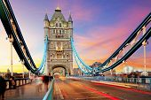 picture of london night  - Tower bridge  - JPG