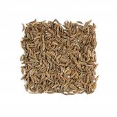 Cumin Seasoning Isolated On White