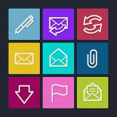 E-mail web icons , color buttons
