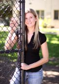 Pretty Blond at the Park