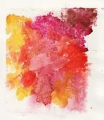colorful watercolor splash white background