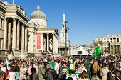 St Patrick's day celebrations at Trafalgar Square
