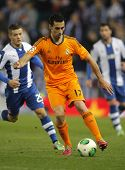 BARCELONA - JAN, 21: Alvaro Arbeloa of Real Madrid during the Spanish Kings Cup match between Espany
