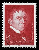 AUSTRIA - CIRCA 1974: a stamp printed in the Austria shows Karl Kraus, Poet and Satirist, circa 1974