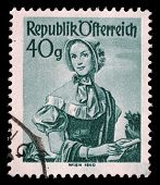 AUSTRIA - CIRCA 1948: A stamp printed in Austria from the