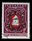 AUSTRIA - CIRCA 1974: stamp printed by Austria, shows Seal of Judenburg, circa 1974