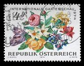 AUSTRIA - CIRCA 1974: A stamp printed in Austria, devoted to the International Garden Show, Vienna,