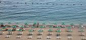 BUDVA, MONTENEGRO - JUNE 09, 2012: Beach in Budva, Montenegro, on June 09, 2009.