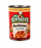 Can Of Chef Boyaredee Beefaroni