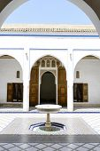 MARRAKESH, MOROCCO- AUGUST 24, 2014:  El Bahia Palace which is visited by tourists from world on 24 August 2014 in Marrakesh, Morocco. It is an example of Eastern Architecture from the 19th century.