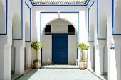 MARRAKESH, MOROCCO- AUGUST 24, 2014:  Interior of El Bahia Palace on 24 August 2014 in Marrakesh, Morocco. The Palace is an example of Eastern Architecture from the 19th century.