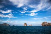 Thailand seascape with limestone