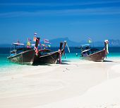 Exotic beach travel destination. Paradise island in Thailand. Thai tourism beauty landscape poster