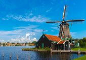 Windmills In Zaanse Schans, Holland, Netherlands