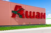 Samara, Russia - August 30, 2014: Auchan Samara Store. French Distribution Network Auchan United Mor