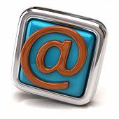 Blue E-mail button