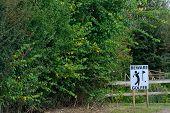 Golfer beware sign