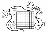 Coloring book page black white school timetable