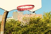 Basketball Hoop On A Nice Sunny Day