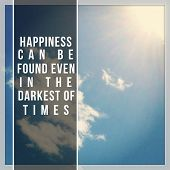 Inspirational Typographic Quote - Happiness can be found