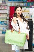 Female pharmacist in drugstore