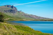 The Old Man of Storr in the distance