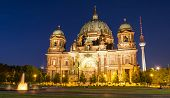 The Berliner Dom at night