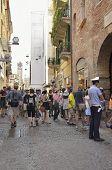Tourists In Verona