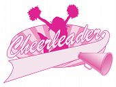 picture of pom poms  - Illustration of a cheer design for cheerleaders - JPG