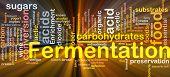 Fermentation Process Background Concept Glowing
