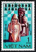 Postage Stamp Vietnam 1983 Chess Pieces