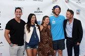 LOS ANGELES - SEP 4:  Josh Murray, Andi Dorfman, Ellen Kershaw, Clayton Kershaw, Chris Harrison at the Ping Pong 4 Purpose Charity Event at Dodger Stadium on September 4, 2014 in Los Angeles, CA