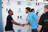 LOS ANGELES - SEP 4:  Jaleel White, Clayton Kershaw at the Ping Pong 4 Purpose Charity Event at Dodger Stadium on September 4, 2014 in Los Angeles, CA