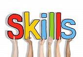 Skills Word Concepts Isolated on Background