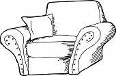 Black Outline Armchair