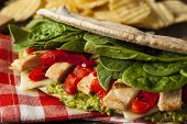 Healthy Grilled Chicken Pesto Flatbread