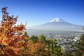 Mt. Fuji, Japan in the fall season.