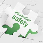 Information Safety On White Puzzle Pieces