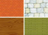 Illustration of the different textures