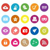 Internet Useful Flat Icons On White Background
