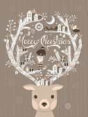 Lovely Moose Design Christmas Card Or Poster