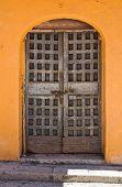Wooden door. San Severo. Puglia. Southern Italy.